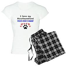 Custom I Love My Newfoundland Pajamas