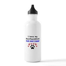 Custom I Love My Newfoundland Water Bottle