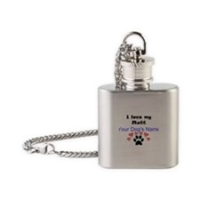 Custom I Love My Mutt Flask Necklace