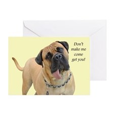 Mastiff Birthday Card Greeting Card