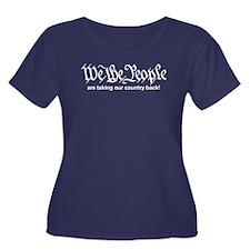 We The People Womens Plus Sz Scoop Nk Dark T-Shirt