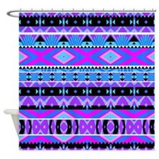 Princess #2, Purple Aztec Shower Curtain