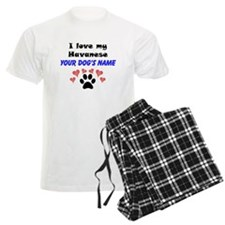 Custom I Love My Havanese Pajamas