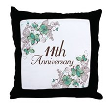 11th Anniversary Keepsake Throw Pillow