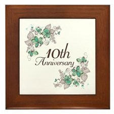 10th Anniversary Keepsake Framed Tile