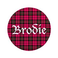 "Tartan - Brodie 3.5"" Button (100 pack)"