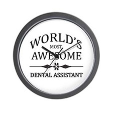 World's Most Awesome Dental Assistant Wall Clock