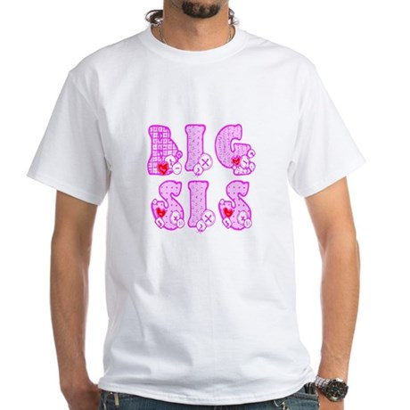 Big Sis White T-Shirt