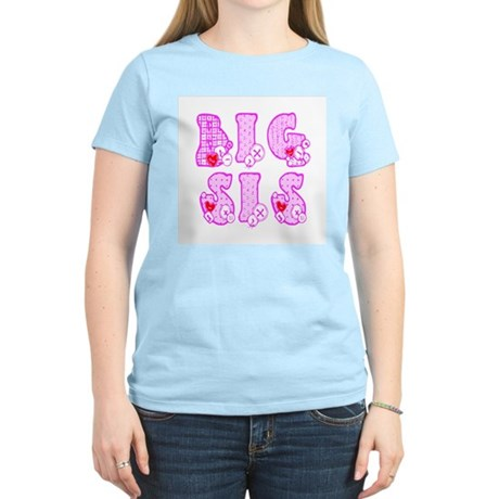 Big Sis Women's Pink T-Shirt