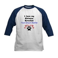 Custom I Love My Chinese Crested Baseball Jersey