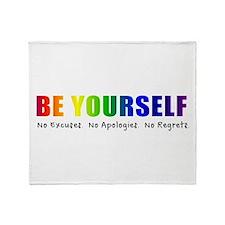 Be Yourself (Rainbow) Throw Blanket