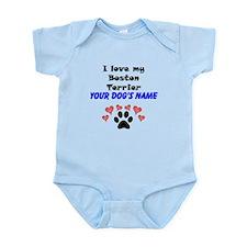 Custom I Love My Boston Terrier Body Suit