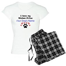 Custom I Love My Bichon Frise Pajamas