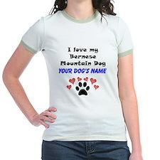 Custom I Love My Bernese Mountain Dog T-Shirt