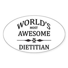 World's Most Awesome Dietitian Decal