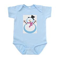 MERRY XMAS SNOWMAN Infant Bodysuit