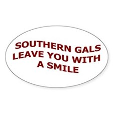 Southern Gals Oval Decal
