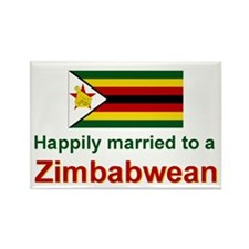 Happily Married To Zimbabwean Rectangle Magnet
