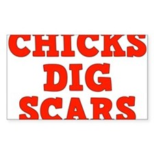Chicks Dig Scars Decal
