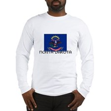 I HEART NORTH DAKOTA FLAG Long Sleeve T-Shirt
