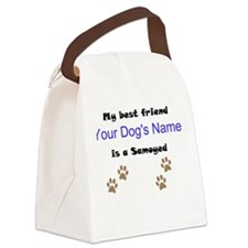 Custom Samoyed Best Friend Canvas Lunch Bag