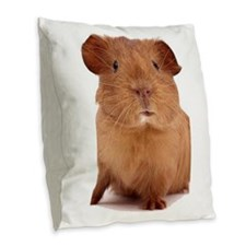 guinea pig face Burlap Throw Pillow