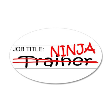 Job Ninja Trainer 35x21 Oval Wall Decal