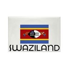 I HEART SWAZILAND FLAG Rectangle Magnet