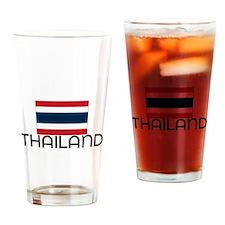I HEART THAILAND FLAG Drinking Glass