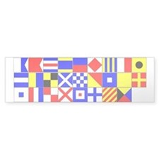 "1"" Square Signal Flag U-Cut Stickers A-Z"