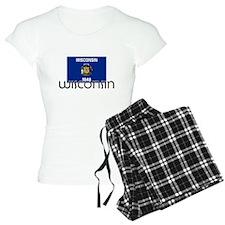I HEART WISCONSIN FLAG Pajamas