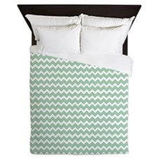 Unique Mint green Queen Duvet