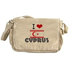 I HEART CYPRUS FLAG Messenger Bag