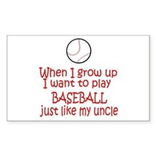 Baseball...just like Uncle Rectangle Sticker