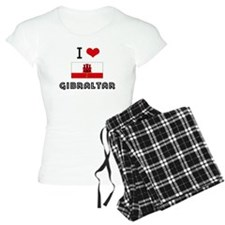 I HEART GIBRALTAR FLAG Pajamas