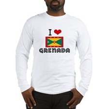 I HEART GRENADA FLAG Long Sleeve T-Shirt
