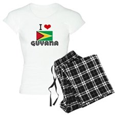 I HEART GUYANA FLAG Pajamas