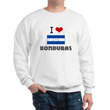 I HEART HONDURAS FLAG Sweatshirt
