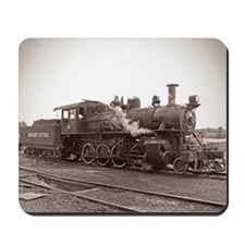 Sepia Antique Train Mousepad