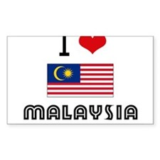 I HEART MALAYSIA FLAG Decal