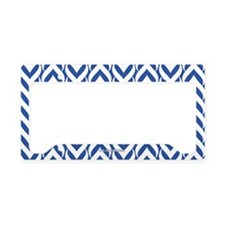 Chevron Zig Zag Pattern Royal Blue License Plate H