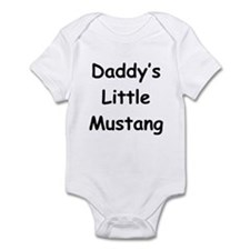 Daddy's Little Mustang Infant Bodysuit
