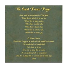 The St Francis Prayer Tile Coaster