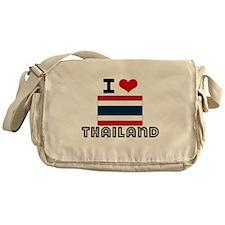 I HEART THAILAND FLAG Messenger Bag