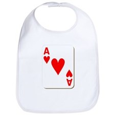 Ace of Hearts Playing Card Bib