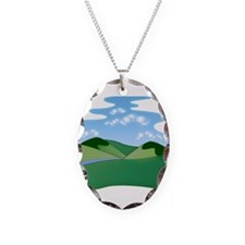 Scenic Mountain Valley View Necklace
