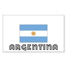 I HEART ARGENTINA FLAG Decal