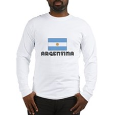 I HEART ARGENTINA FLAG Long Sleeve T-Shirt