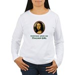 Mona Lisa Italian Girl Women's Long Sleeve T-Shirt