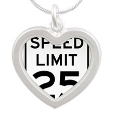 Speed Limit 25 Sign Necklaces